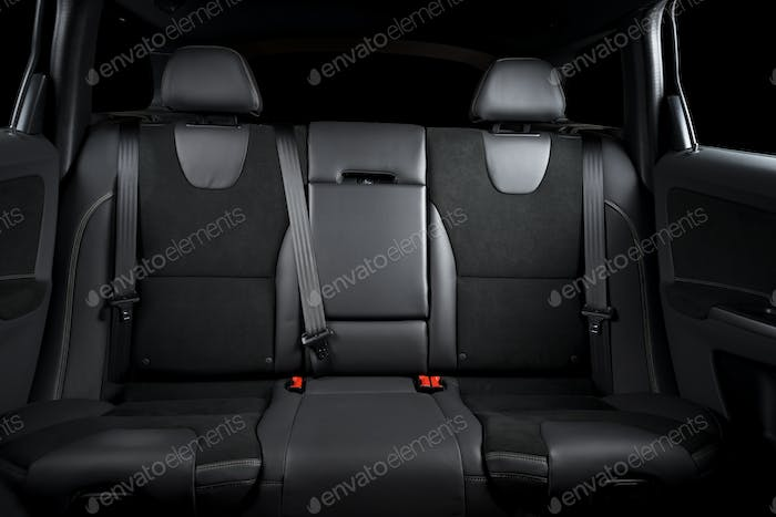 Leather seats details, car interior