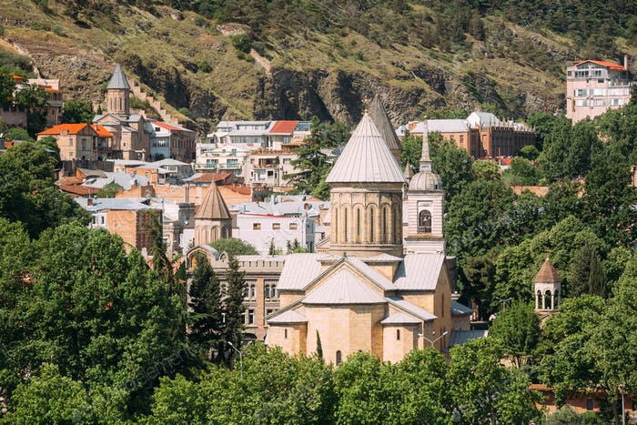Tbilisi Sioni Cathedral, Georgia. Cathedral of Saint Mary of Zio