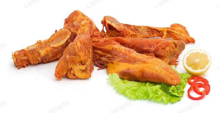 Spicy smoked pork bones