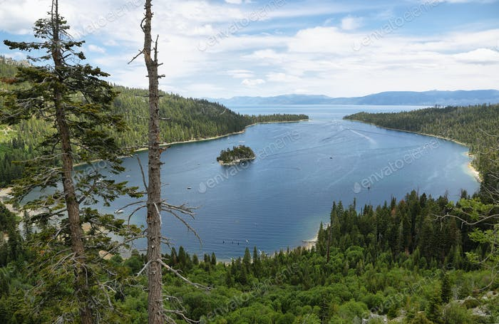 Emerald bay in Tahoe lake