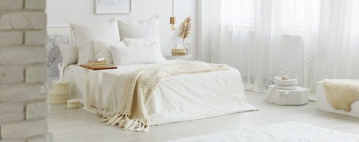 White bedroom interior
