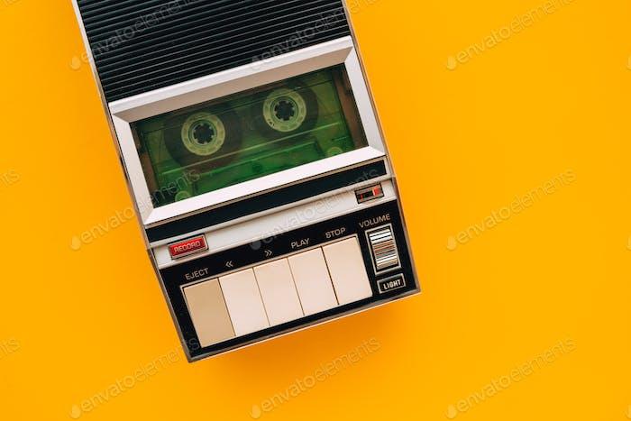 Draufsicht des Audio Kassetten-Players