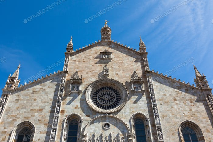 Santa Maria Assunta cathedral in Como city near Milan in Italy