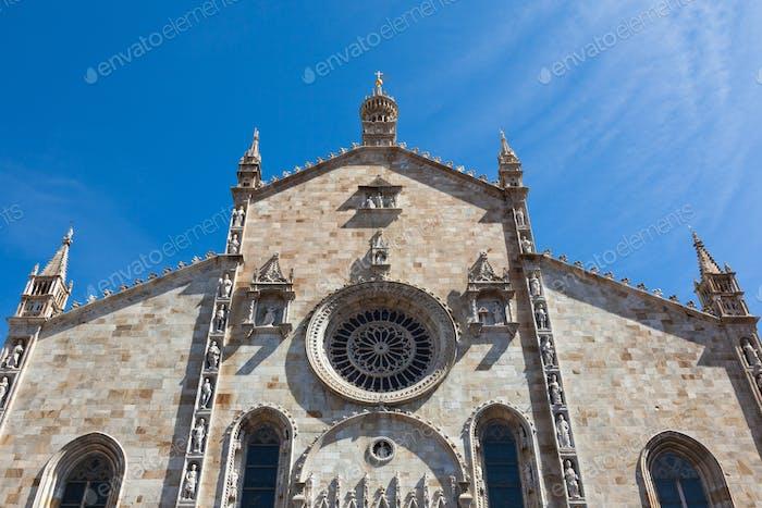 Santa Maria Assunta cathedral in Como city near Milan in Italy