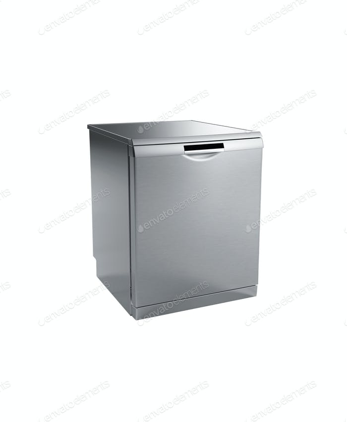 Mini fridge isolated on white