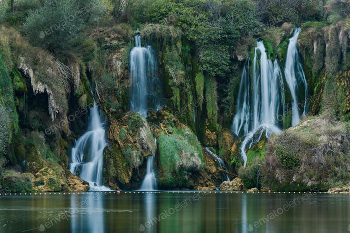 close up view on Kravica waterfall,Bosnia