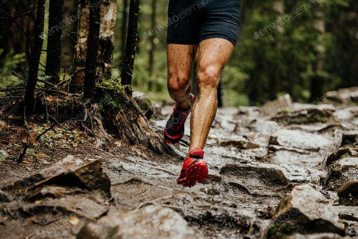 nasse Füße Läufer Sportler