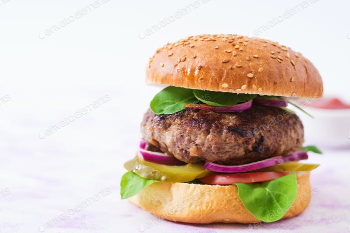 Big sandwich - hamburger burger with beef