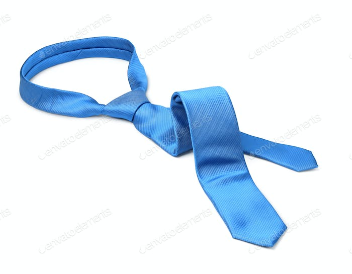 Blue tie taken off