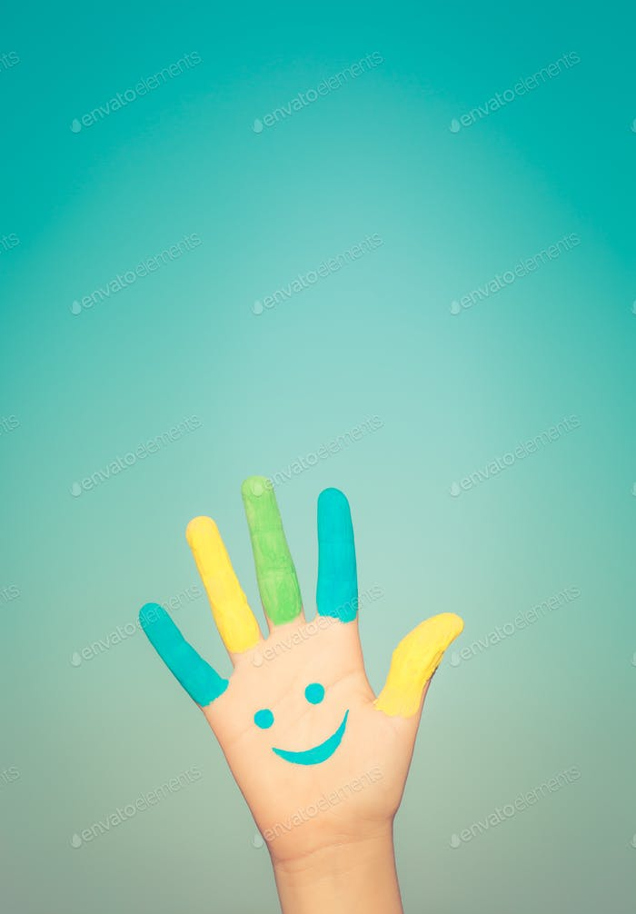 Happy smiley hand