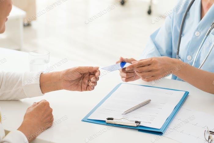 Tarjeta del seguro médico