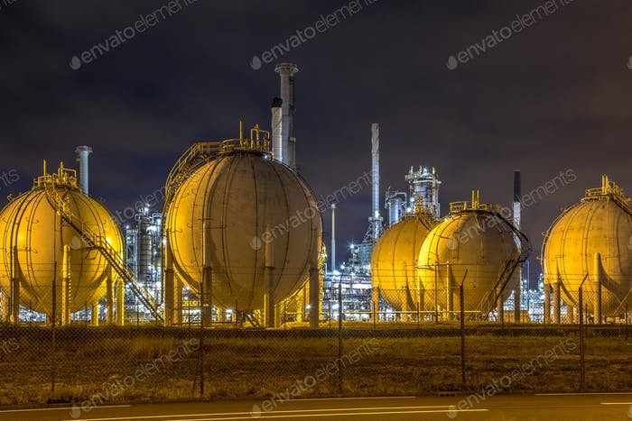 Liquid Natural Gas globe containers