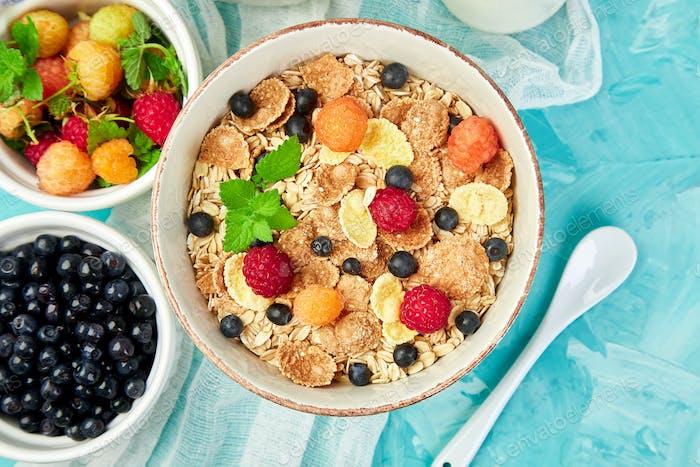 Gesundes vegetarisches Frühstück.