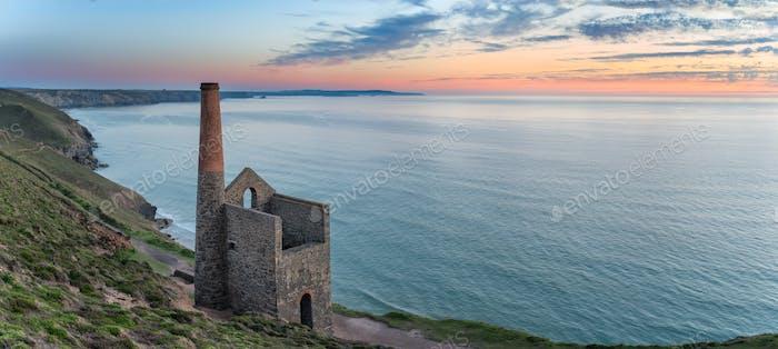 Wheal Coates on the Cornish Coast