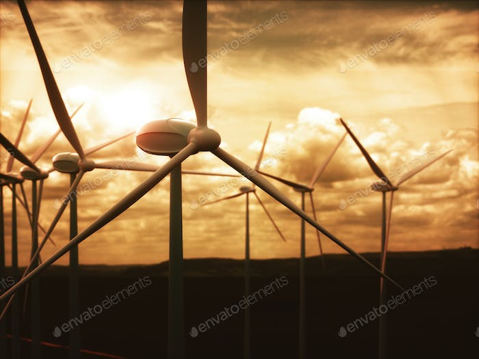 Wind Farms Power Generation Electrical Energy