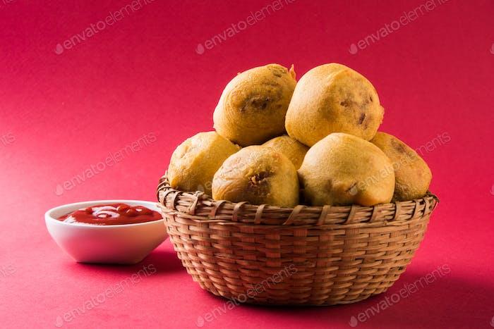 Batata Vada oder Aloo Bonda