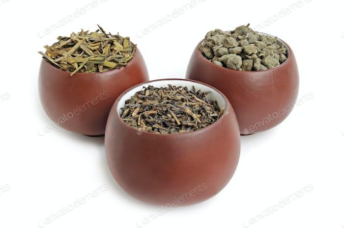 Three tea cups