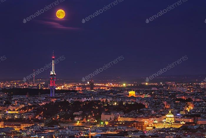 Old Town night view, Prag, Tschechische Republik