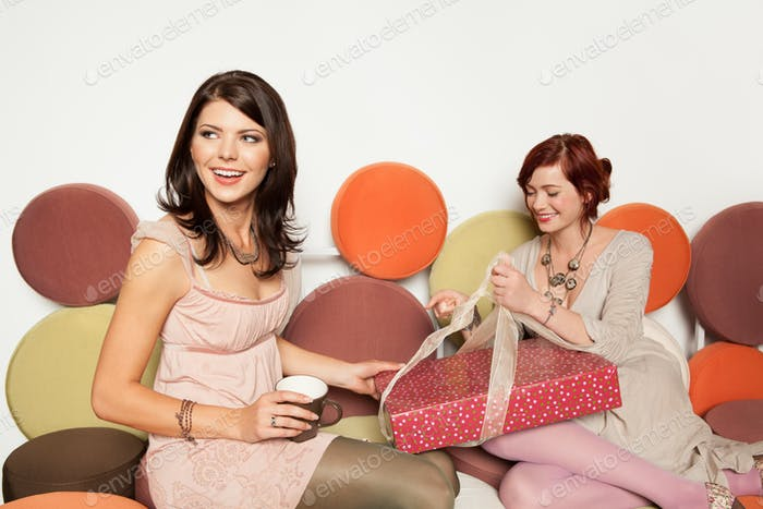 young women with gifts