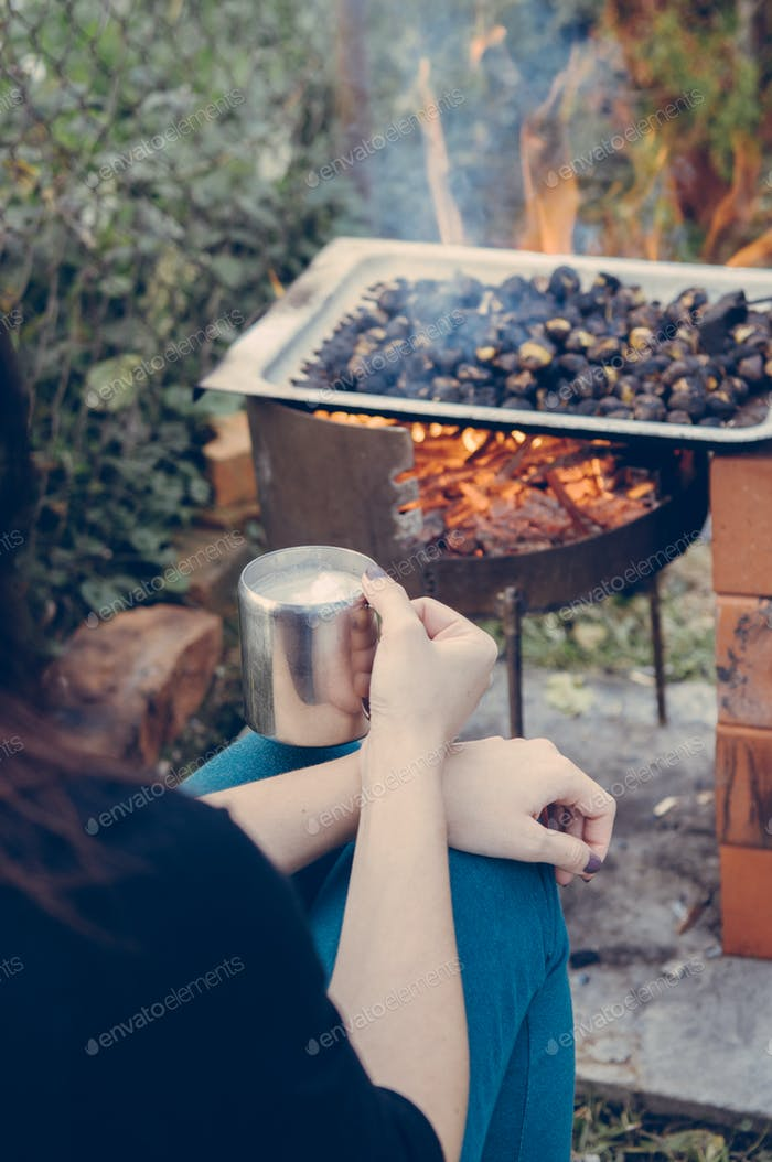 Time for roasted chestnuts and coffee