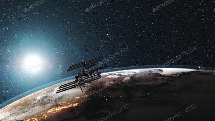 ISS rotieren Erdatmosphäre ferne Exploration