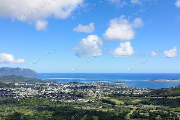hawaii pali lookout scenery