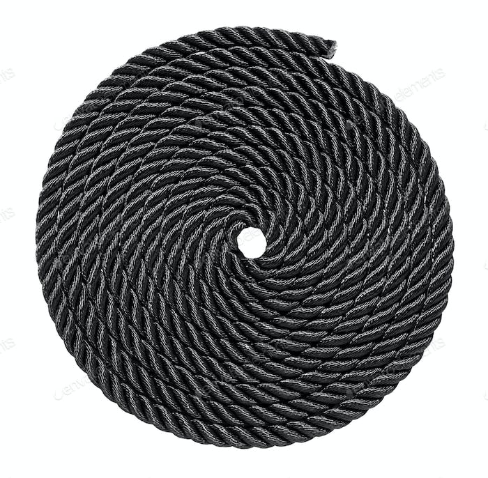 Neatly coiled nautical black line