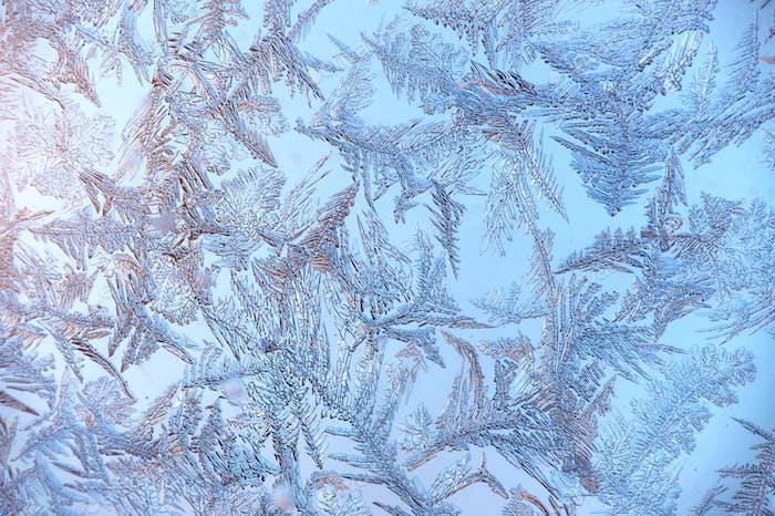 Macro photo of real snowflakes