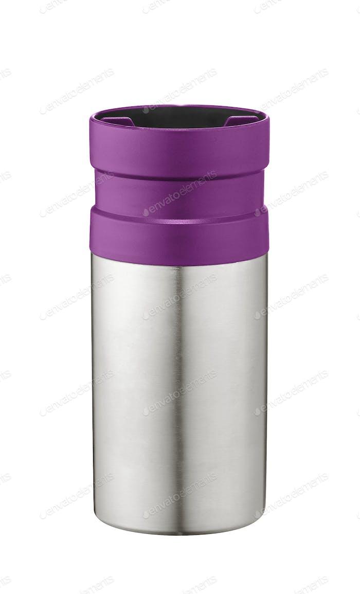 Vacuum Flask on White background