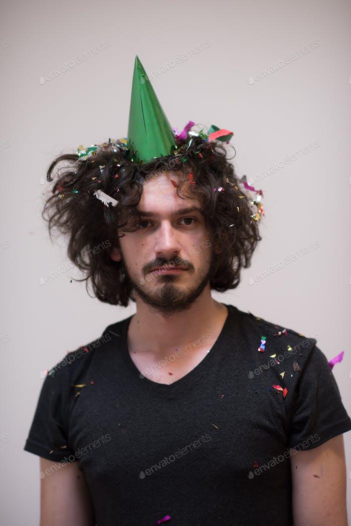 Konfetti Mann auf Party