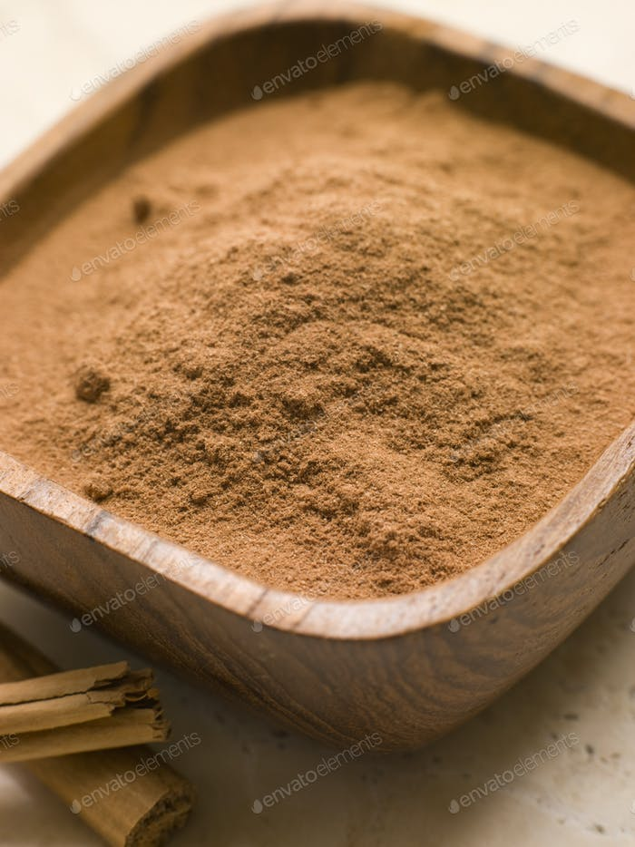 Ground Cinnamon Powder with Cinnamon Bark