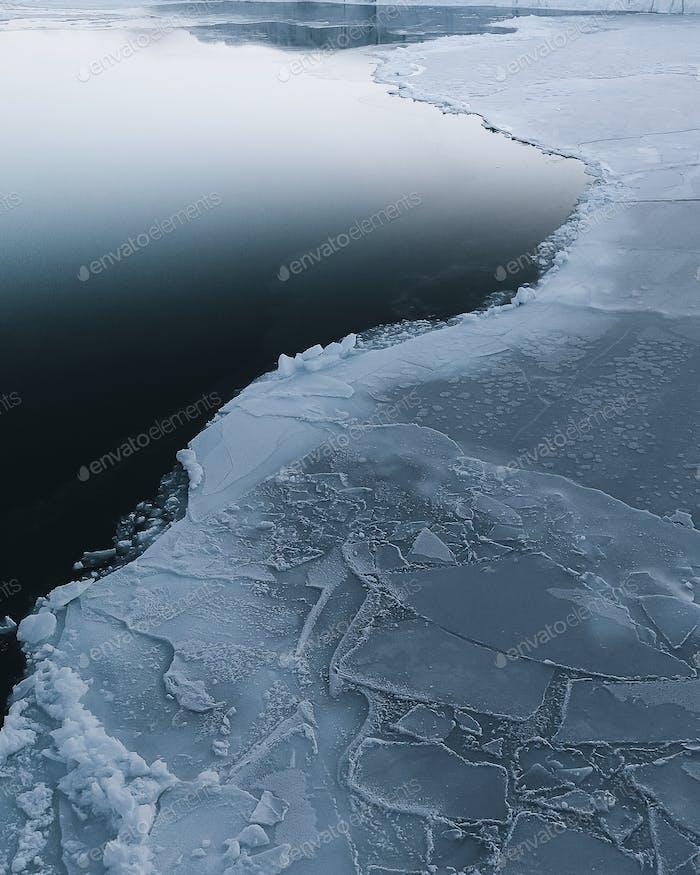 Ice meets sea on Greenland