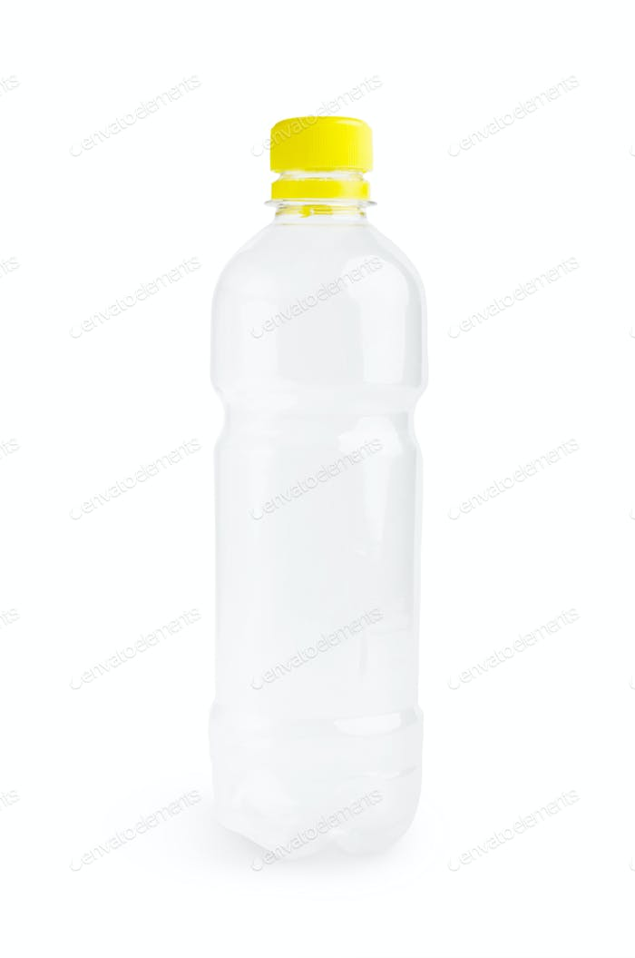 Plastic bottle on white