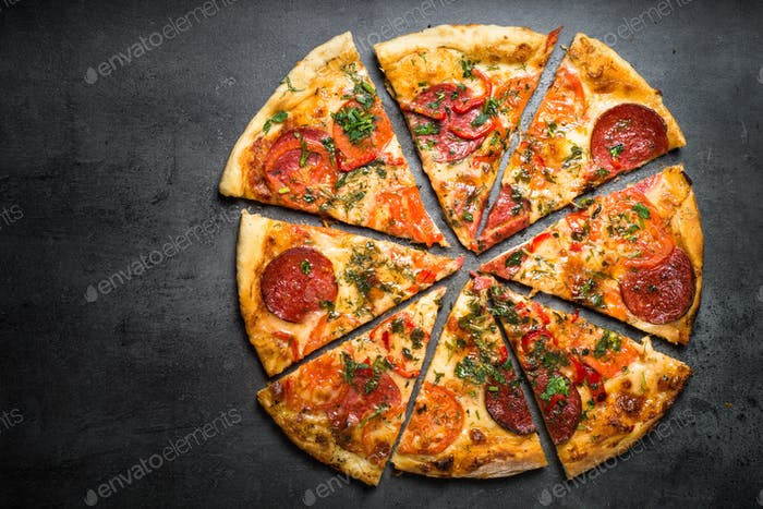 Traditional italian pizza
