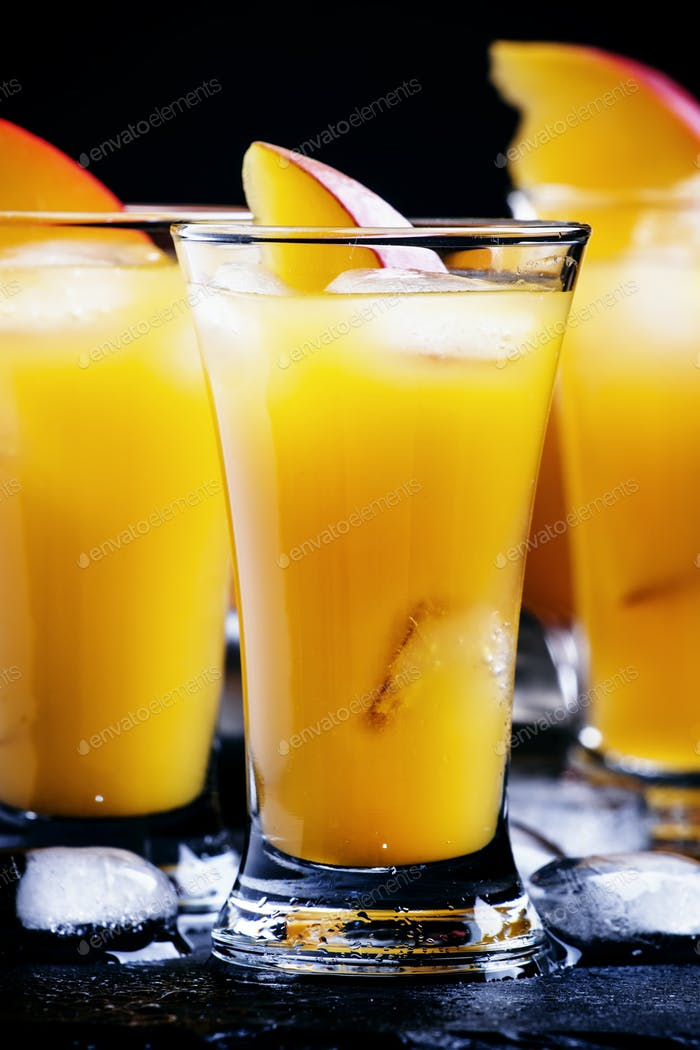 Mango and orange liqueur