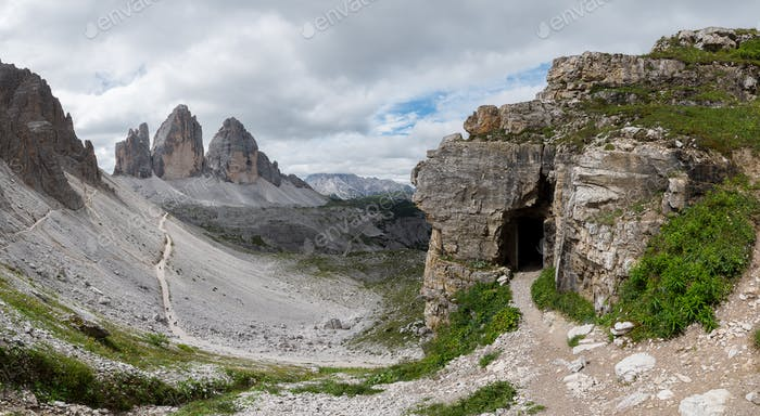 Beautiful mountain scenery in Dolomites mountains