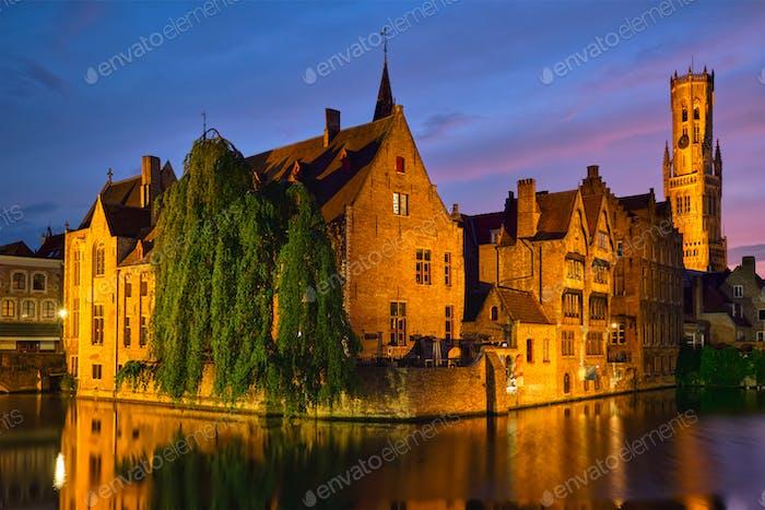 Berühmte Ansicht von Brügge, Belgien