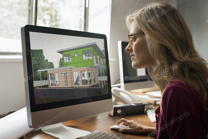 Grünes Bauprojekt, Entwurf und Bau effizienter umweltfreundlicher Gebäude.