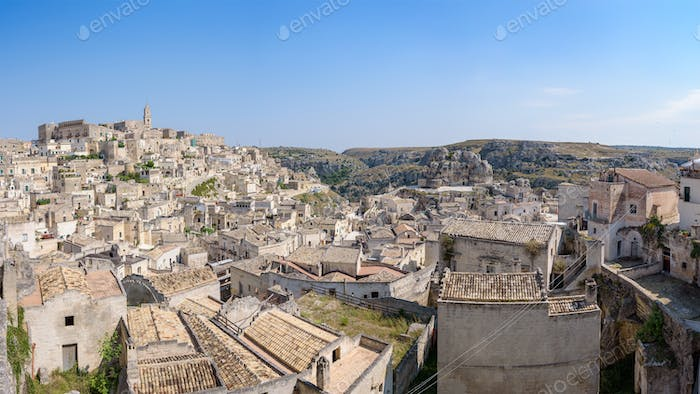 Panoramic view of the Sassi of Matera