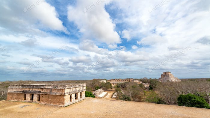 Uxmal Cityscape View