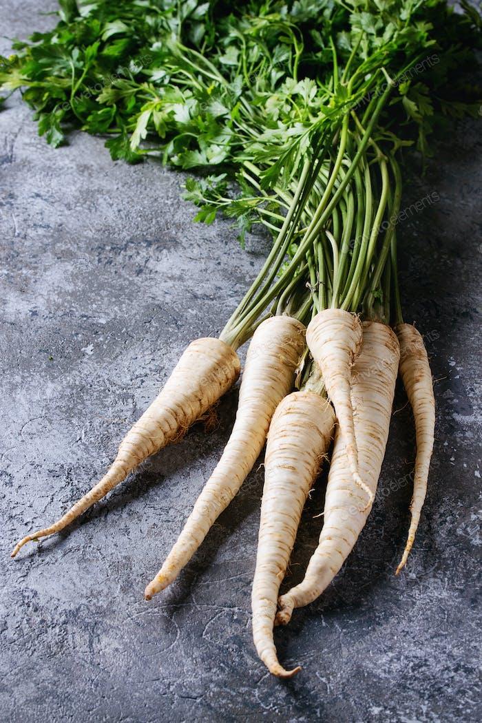 Bundle of fresh parsnip