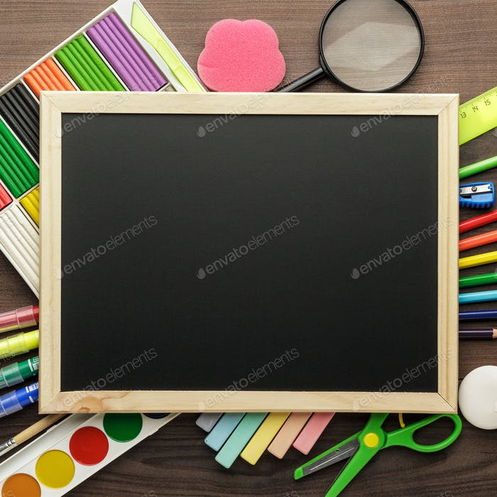 Thumbnail for School Supplies And Blackboard