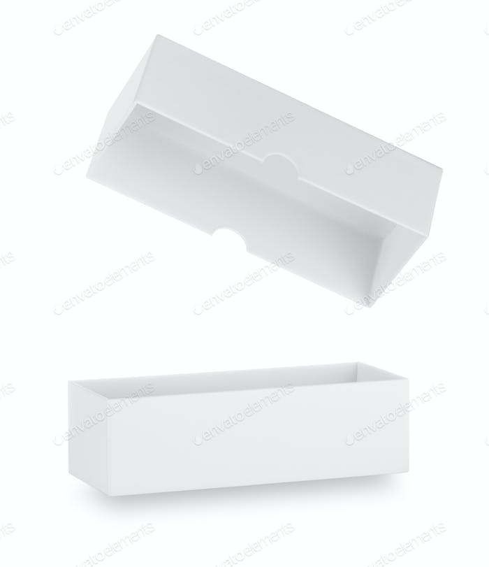 White box with lid open