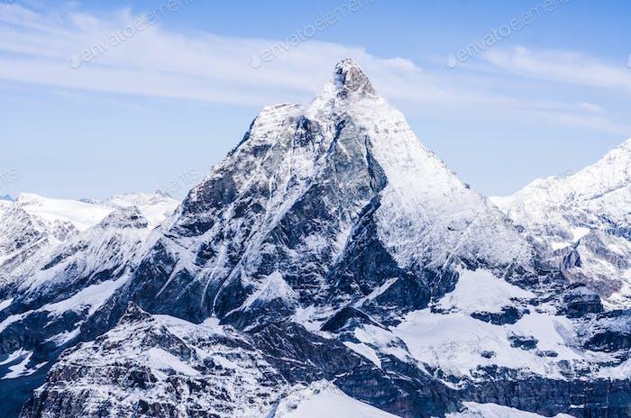 Matterhorn peak in Swiss Alps
