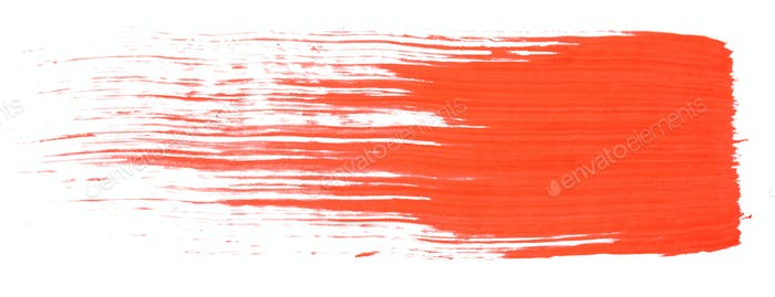Red paint brush texture