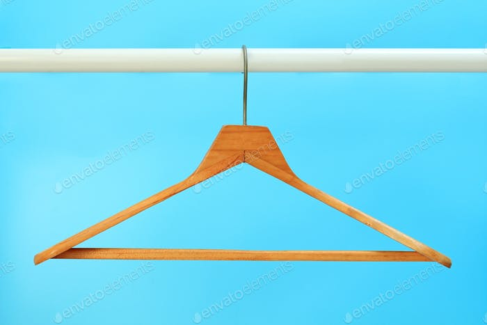 Cloth hangers in row
