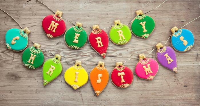 Weihnachtskugeln Plätzchen