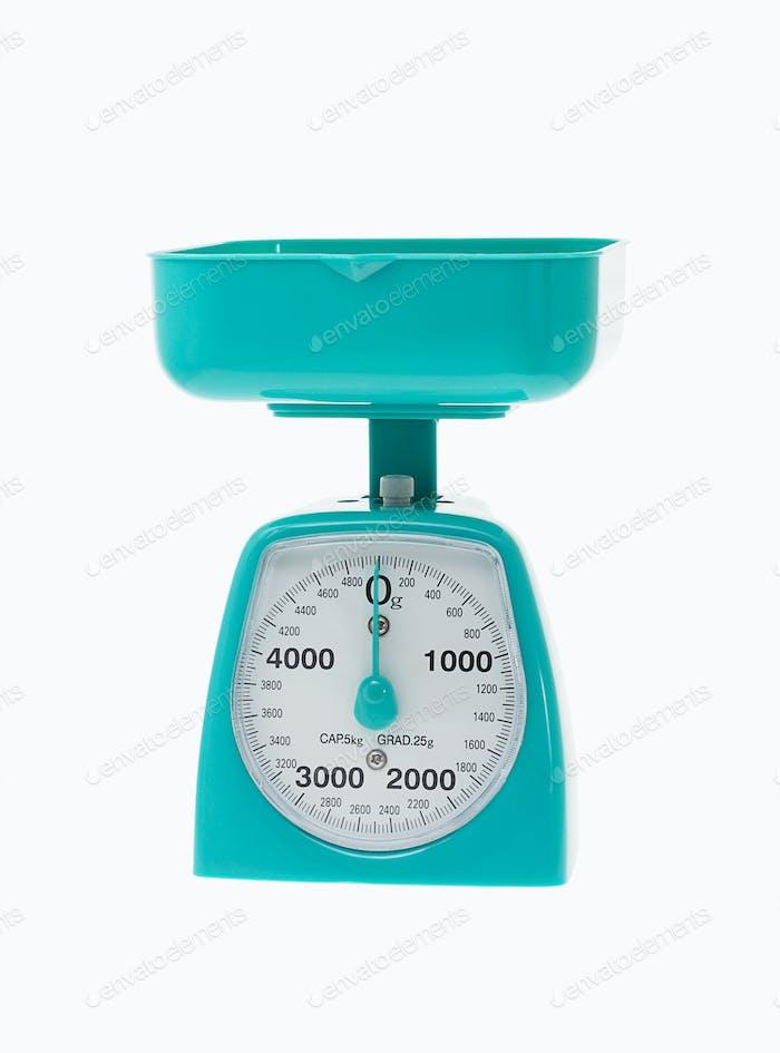 Plastic kitchen scale