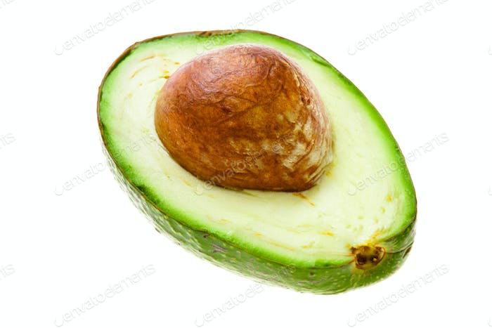 half of an avocado