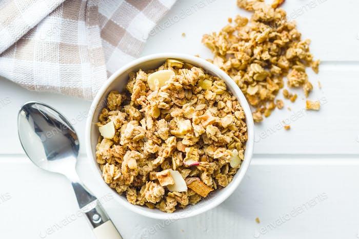 The granola breakfast cereals.